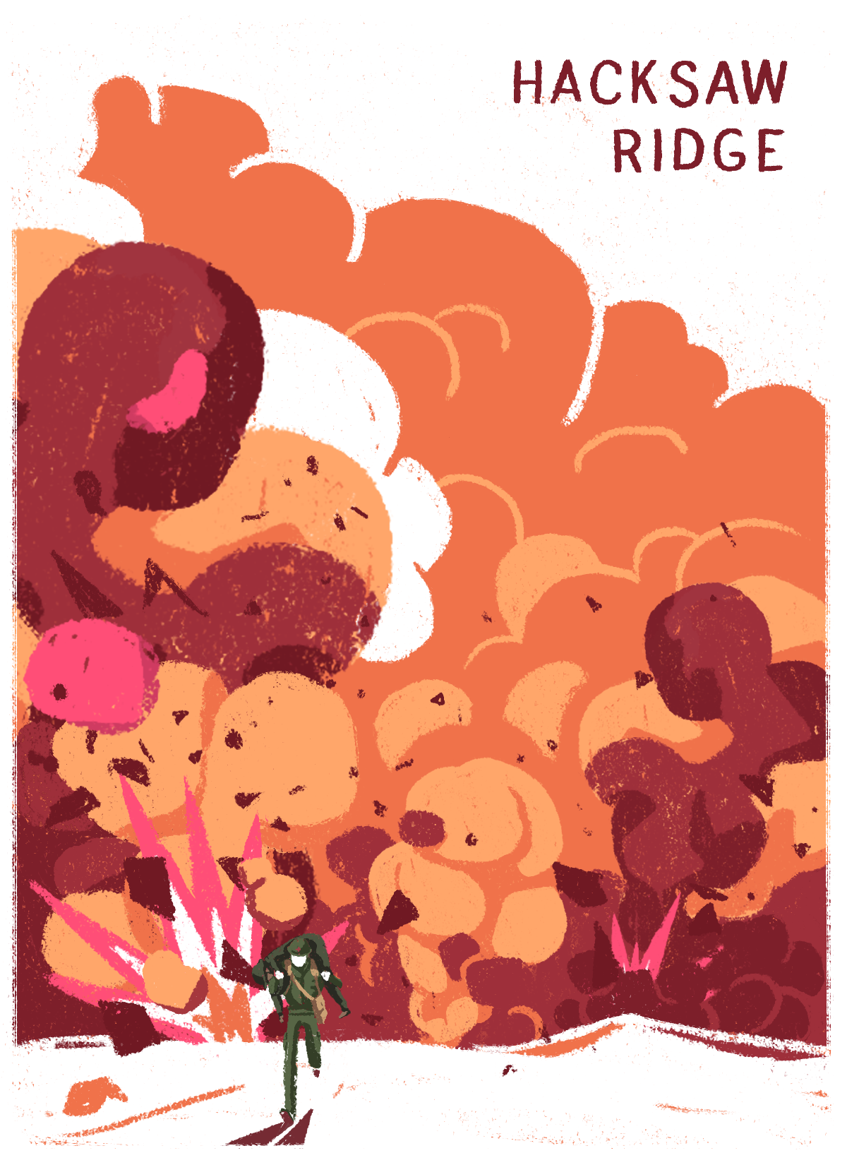 Hacksaw Ridge - Papaya illustration - www.papaya.studio